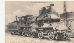 Carte Les Locomotives Françaises, Machine N° C119 - Trains