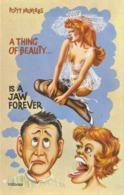 """Potty Proverbs. A Thing Of Beauty.."" Hunorous English Postcard 1960s - Humor"