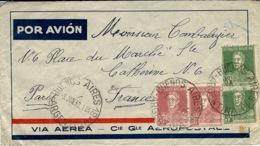 1932- AEROPOSTALE - Enveloppe De B A Affr. 0,66 Peso Pour Paris - Covers & Documents