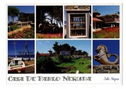 POSTAL POST CARD CHILE CHILI CASA DE PABLO NERUDA WRITER ESCRITOR ISLA NEGRA PREMIO NOBEL DE LITERATURA NOBEL PRIZE .... - Chile