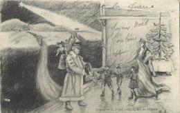 GUERRE 1914-18 -  Noël Le Maréchal Pétain Apportant La Liberté En 1916,carte Illustrée. - Patriotiques