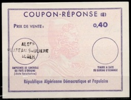 ALGERIE Type ULYSSES Ex10 0,40 ReplyCoupon-Reponse (E) o ALGER PLATEAU SAULIERE - Tunesien (1956-...)