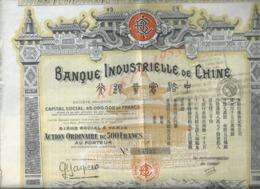 ACTION BANQUE INDUSTRIELLE DE CHINE : - Bank & Insurance