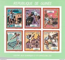 Republica De Guinea Nº Michel 1187B Al 1192B En Hoja Verde SIN DENTAR - Ete 1992: Barcelone
