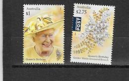 AUSTRALIE N°4307 à 4308**  Personnalité Portrait De S.M La Reine Et Broche De Diamant - 2010-... Elizabeth II