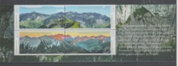 LIECHTENSTEIN  2019  - Mountain Panorama  Set 4 Val.with Illustrated Edges MNH ** - Unused Stamps