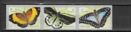 AUSTRALIE N°4324 à 4326**  Faune Papillons Auto-adhésif - 2010-... Elizabeth II