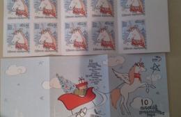 GREECE, 2019, MNH, CHRISTMAS, UNICORNS, SA BOOKLET OF 10v - Christmas