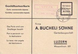 SUISSE 1940 LETTRE EN FRANCHISE CACHET BUREAU POSTE AUTOMOBILE LUZERN - Briefe U. Dokumente