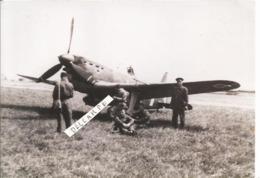 PHOTO AVION MORANE SAULNIER 406 AVEC PILOTE MECANOS  RETIRAGE   12X18CM - Aviation