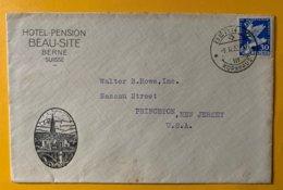 9261  -  Lettre Hôtel Pension Beau-Site Berne 09.02.1932 Pour Les Etats-Unis - Briefe U. Dokumente