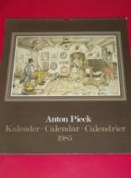 Kalender Calendrier - 1985 - Anton Pieck - Grand Format : 1981-90