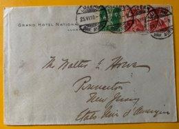 9262  -  Lettre Grand Hôtel National Lucerne 25.06.1910 Pour Princeton Etats-Unis - Briefe U. Dokumente