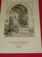 Kalender Calendrier - 1986 - Anton Pieck - Grand Format : 1981-90