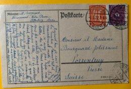 9263  -  Carte Offenburg 6.05.1922 Pour Porrentruy Suisse - Allemagne