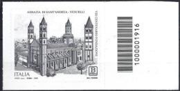 Italia 2019 Abbazia Di Vercelli Con Codice A Barre/ Italien 2019 Basilika Vercelli Mit Strichkode - Barcodes