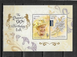 AUSTRALIE Bloc Feuillet N °210** Portrait S.M La Reine Et Broche En Diamant - Blocs - Feuillets