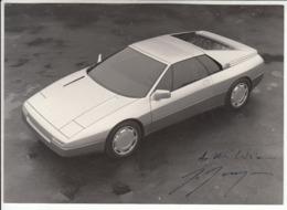 AUTO CAR VOITURE DEDICA E AUTOGRAFO GIUGIARO - FOTOGRAFIA ORIGINALE ANNI '80 - Automobili