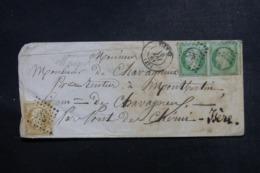FRANCE - Enveloppe De Vienne Pour Pont De Cherui En 1861, Affranchissement Napoléons Dont Paire Du 5cts  - L 48143 - 1849-1876: Classic Period
