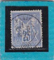 SAGE N° 78  TYPE II A  - CACHET A DATE 1340  PARIS (60)  6 SEPT. 1877 - REF 1602 - 1876-1898 Sage (Type II)