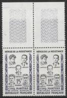 France 1959 - Héros De La Résistance - Paire Y&T N°1198 ** Neuf Luxe 1er Choix (gomme D'origine Intacte) - France