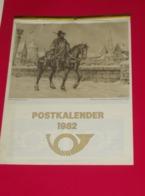 Kalender Calendrier - 1982 - Postkalender - Calendriers