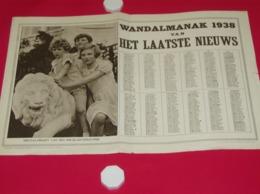 Kalender Calendrier - 1938 - Pub Reclame Het Laatste Nieuws - 3 Koningskinderen - Calendriers