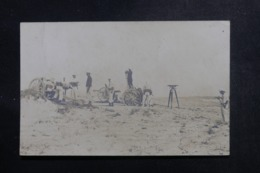 MILITARIA - Carte Photo - En Algérie - Exercice De Tir De Côte Du Canon De 75 - L 48145 - Manoeuvres