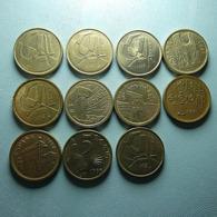 Spain 11 Coins 5 Pesetas All Different - Monnaies & Billets