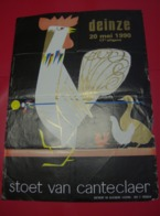 Affiche Poster - Deinze - Stoet Van Canteclaer - 20 Mei 1990 - Affiches
