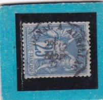SAGE N° 78  TYPE II B  - CACHET DE CONVOYEUR LIGNE - SENAC à AURILLAC - 17 NOV. 1877  - REF 1602 - 1876-1898 Sage (Type II)