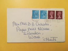 1972 BUSTA GRAN BRETAGNA GREAT BRITAIN BOLLO QUEEN ELISABETH ELISABETTA ANNULLO HERTFORD OBLITERE' - 1952-.... (Elisabetta II)
