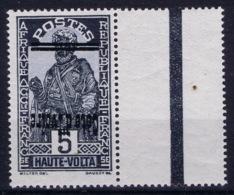 Cote-d'Ivoire : Yv 90a Surcharge Renversee, Postfrisch/neuf Sans Charniere /MNH/** Bord De Feuille - Ivoorkust (1892-1944)
