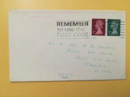 1972 BUSTA GRAN BRETAGNA GREAT BRITAIN BOLLO QUEEN ELISABETH ELISABETTA ANNULLO HITCHIM OBLITERE' ETICHETTA - 1952-.... (Elisabetta II)
