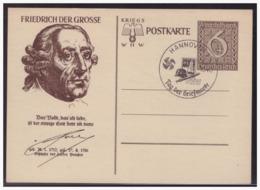 Dt- Reich (004962) Ganzsache WHW 1939, Friedrich Der Grosse, P285/ 04, Mit SST Hannnover Tag Der Briefmarke 1940 - Enteros Postales