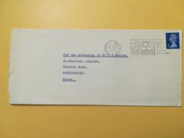 1972 BUSTA GRAN BRETAGNA GREAT BRITAIN BOLLO QUEEN ELISABETH ELISABETTA ANNULLO CROYOON OBLITERE' ETICHETTA - 1952-.... (Elisabetta II)