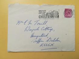 1973 BUSTA GRAN BRETAGNA GREAT BRITAIN BOLLO QUEEN ELISABETH ELISABETTA ANNULLO CHELTENHAM OBLITERE' ETICHETTA - 1952-.... (Elisabetta II)