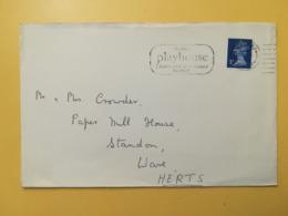 1973 BUSTA GRAN BRETAGNA GREAT BRITAIN BOLLO QUEEN ELISABETH ELISABETTA ANNULLO HARLOW OBLITERE' ETICHETTA - 1952-.... (Elisabetta II)