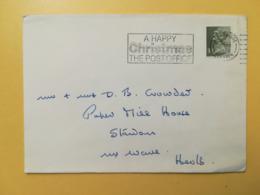 1973 BUSTA GRAN BRETAGNA GREAT BRITAIN BOLLO QUEEN ELISABETH ELISABETTA ANNULLO WOODBRIDGE OBLITERE' ETICHETTA - 1952-.... (Elisabetta II)