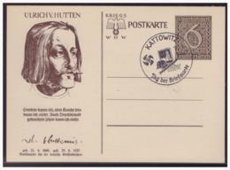 Dt- Reich (004967) Ganzsache WHW 1939, Ulrich V. Hutten, P285/ 03, Mit SST Kottowitz, Tag Der Briefmarke Vom 7.1.1940 - Enteros Postales