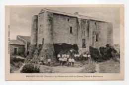 - CPA MARIGNY-BRIZAY (86) - Les Ruines Du Château Féodal De Montfaucon 1916 (avec Personnages) - - Francia