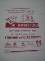 Affiche Poster - Maldegem Café De Gouden Leeuw - Kaarting 16 Februari 1990 - Affiches
