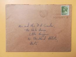 1980 BUSTA GRAN BRETAGNA GREAT BRITAIN BOLLO QUEEN ELISABETH ELISABETTA ANNULLO OBLITERE' ETICHETTA - 1952-.... (Elisabetta II)