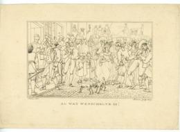 """""""AL WAT WENSCHELYK IS!"""" GRAVURE DE MARCUS 1807 - Prints & Engravings"""