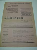 Affiche Poster - Muziek Conservatorium Gent - BRT Televisie Komt Naar Gent - 100.000 Of Niets - 2 Maart 1958 - Affiches