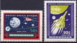 Mongolia 1959. Space. Lunik.  MNH - Espacio
