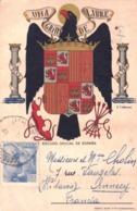 Tarjeta Escudo Oficial De Espana  Una Grande Libre !  J Cabanas  Barcelona  1941 Matasellos Censura - Sin Clasificación