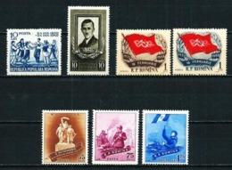 Rumanía Nº 1077/8-1561/2-1592/4 Nuevo - 1948-.... Republics