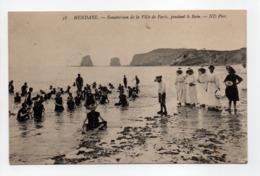 - CPA HENDAYE (64) - Sanatorium De La Ville De Paris, Pendant Le Bain (belle Animation) - Photo Neurdein N° 58 - - Hendaye