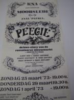 Affiche Poster - Toneel Peegie - K.N.A. Moorslede - Zaal Patria - 1973 - Affiches